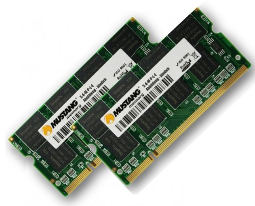 1GB Dual Channel Kit Mustang / Hynix original 2 x 512 MB 200 pin DDR-266 (PC-2100) SO-DIMM double side für DDR1 Notebooks -