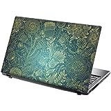 """TaylorHe 15,6"""" Autocollants en vinyle coloré avec motif pour ordinateur portable (38cm x 25,5cm) Laptop Skin vignes, fleurs, bleues"""