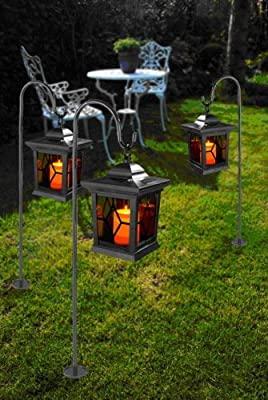 Wetelux (811378) Solar Garten Laterne mit Kerzenflackern