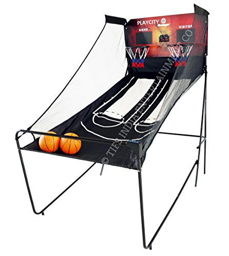 Play In The City Steel Indoor Basketball for Kids Family Arcade Hoop