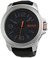 Boss 1513345 Orange New York - Reloj de pulsera analógico, de cuarzo, correa de textil, para hombre de BOSS Orange