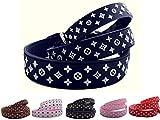 Lushpetz Designer Hundehalsband In Shwarz, Rot, Braun, Pink oder Weiß.Wasserdicht und wasserfest-Xs, klein, mittlere Größen (M, Monochrom)