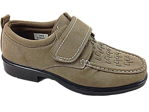 Dr Keller Herren Beige braun, leicht, Slip-On, Arbeit, Büro Loafer Schuhe Beige