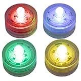LED-Highlights Deko Kerzen Teelichter 4 er Set farbwechsel bunt flackernd wasserdicht kabellos Batterie Stimmungslicht Tischlampe Innen Aussen