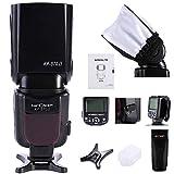 K&F Concept® KF-570 II Universal Blitzgerät Speedlite Blitzlicht für Canon Nikon Fuji Panasonic Olympus Pentax Sigma Leica mit Single-Kontakt Hot Shoe