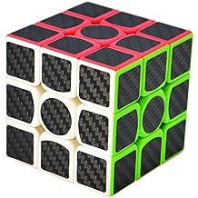 Maomaoyu Speed Cube 3x3x3 3x3 Fibra De Carbono Cubo Magico Negro