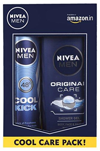 Nivea Men Cool Kick Deodorant Spray, 150ml with Original Care...