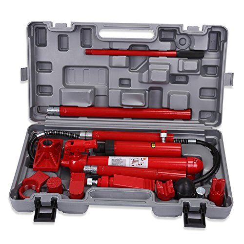 10 Ton Hydraulic Jack Body Porta Power Frame Repair Kit Auto Car Tool -