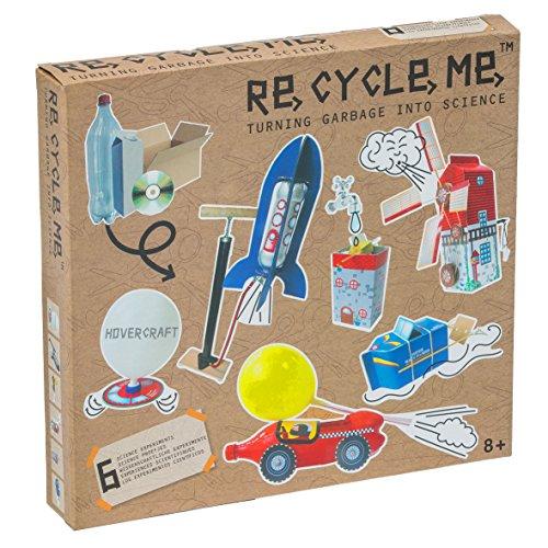 Re Cycle Me DEFG1330 Recycling Bastelspaß Wissenschaftliche Experimente, Bastelset für 6 Modelle, Kreativset für Kinder ab 4 Jahre, Set zum Basteln mit Haushaltsmaterialien, Recycle Mich, Bastelmix
