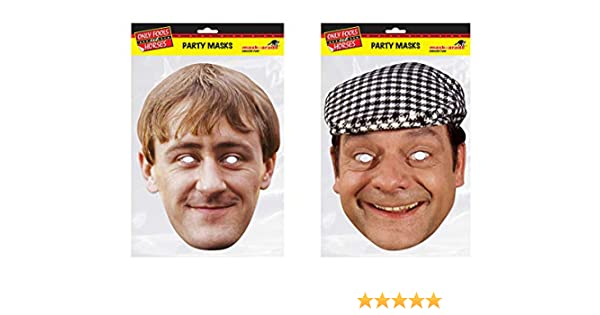 fa9486cc20f Del Boy and Rodney Trotter from The Only Fools is Horses face Masks  Amazon.co.uk   Clothing