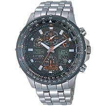 Citizen JY0080-62E - Reloj de cuarzo para hombre, correa de titanio multicolor