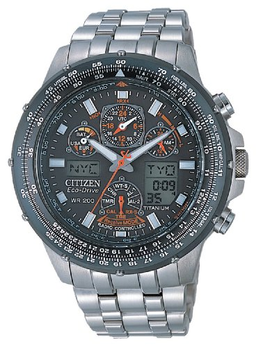 Citizen skyhawk radiocontrollato titanio jy0080-62e - orologio da polso uomo