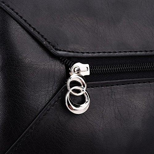 Kroo Femme Portefeuille en cuir Clutch Wristlet Coque pour Sony Xperia T2Ultra Rosa - Magenta and Blue schwarz - Schwarz / Rot