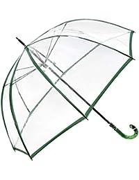 Paraguas transparente M&P, cúpula transparente y puño imitación piel serpiente