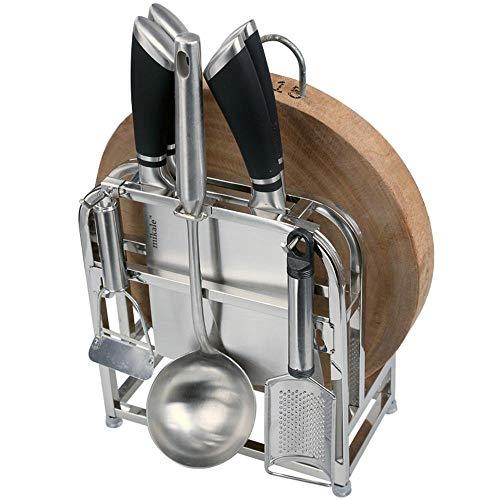 WEILIVE Ablageregal QFF Edelstahl Revolver Amboss Platte Schrank Messer Sitz Küche Regal Wand Hängeaufbewahrung Zubehör Tablware Halter