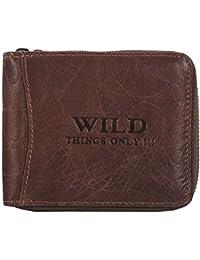 BAG STREET Geldbörse mit Reißverschluss Leder WILD 5267