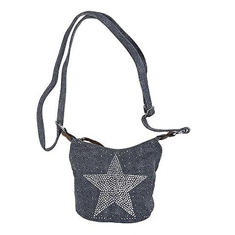 Pochette Coton - sac de dames, G6355, Étoile Étoile application