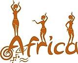 GRAZDesign 630223_57_083 Wandtattoo Afrika Land Kontinent | Wand-Aufkleber als Deko im Wohnzimmer/Büro (71x57cm//083 haselnussbraun)