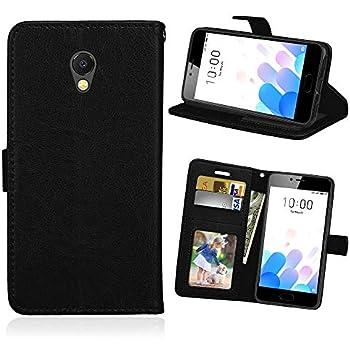 Guran/® Custodia in Pu Pelle per Meizu M6 Note Note 6 Smartphone avere Portafoglio e Funzione Stent Case Flip Cover Caso Copertura Protettiva-nero