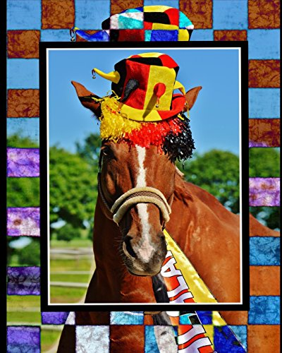 Horse Notebook: College Ruled - Lined Journal - Composition Notebook - Soft Cover Writer's Notebook or Journal for School  - College or Work - Horse in Hat Crazy Horse Hat