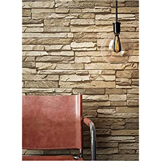 Steintapete Vlies Braun Beige | Schöne Edle Tapete Im Steinmauer Design |  Moderne 3D Optik Für