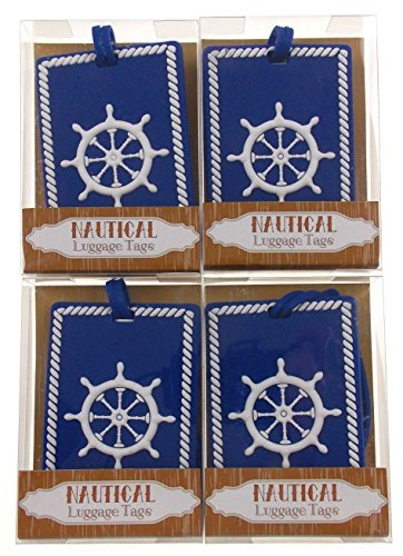 Tags Nautical mit Ein Schiff-Rad Design Bundle Of 4 ()