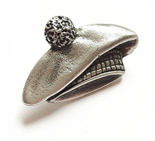 Emblems-Gifts Tam O 'Shanter Hat Handgefertigt aus Englisch Zinn Anstecknadel + 59mm Badge + Geschenk Tüte