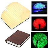 immagine prodotto lampade libro USB ricaricabile pieghevole in legno magnetico LED Light del libro di lamp - 4 colori mutevoli scrivania lampada da tavolo