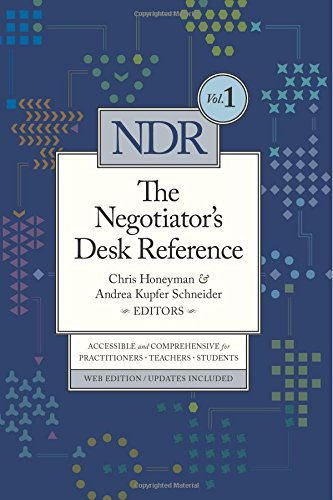 Negotiator's Desk Reference: Volume 1