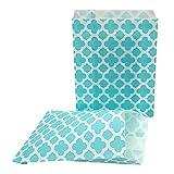 75 Geschenktüten Candy Bar Papiertüten Blau- Ideal für kleine Geschenke auf Geburtstagen, Hochzeiten, zu Weinachten und zum Basteln von individuellen Adventskalendern - 13 x 16,5 cm