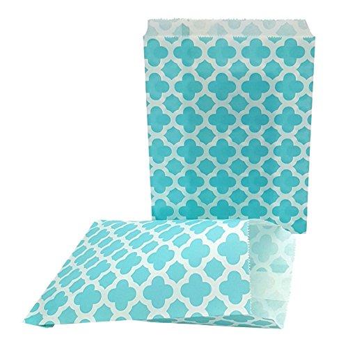 100 Geschenktüten Candy Bar Papiertüten Blau- Ideal für kleine Geschenke auf Geburtstagen, Hochzeiten, zu Weinachten und zum Basteln von individuellen Adventskalendern - 13 x 16,5 cm