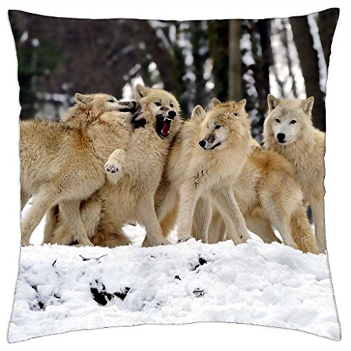 White Wolfpack - Throw Pillow Cover Case (18\