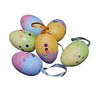 Specifiche: Realizzato in schiuma di alta qualità e PVC, sicuro e innocuo. Decora la tua casa con queste colorate uova di Pasqua. Decorazione perfetta per Pasqua. Tipo: decorazione per uovo di Pasqua. Quantità: set da 6 pezzi. Materiale: PVC,...