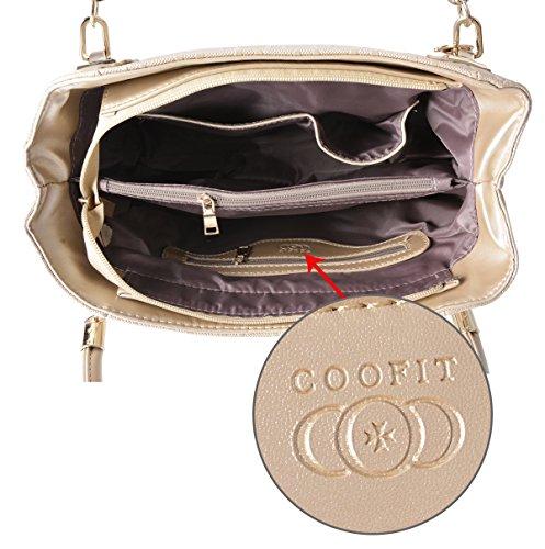 COOFIT Set Borse Donna, 3 pezzi Borse a Mano+Piccola Borse a Tracolla+Portafoglio
