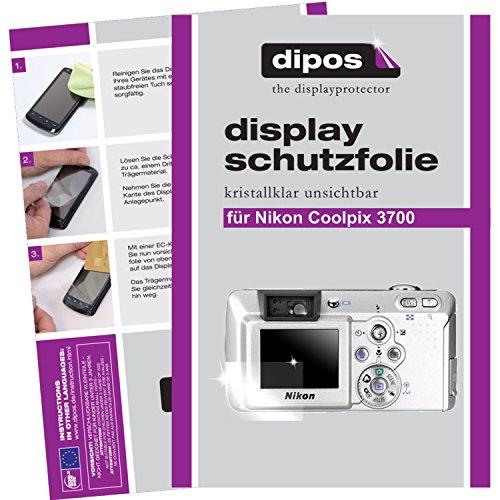 dipos Nikon Coolpix 3700 Schutzfolie (6 Stück) - kristallklare Premium Folie Crystalclear (3700 Nikon Coolpix)
