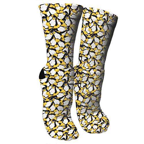 Bgejkos Unisex Colorful Patterned Socks Compression Socks for Tux The Linux Penguin Crew Socks -