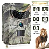 OOOUSE Trail Game Camera, 12MP 1080P HD Digital Waterproof Hunting Scouting Cam 120