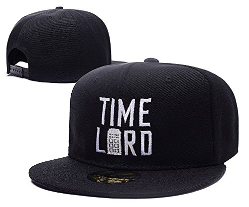 Feruch Doctor Who Time Lord With Tardis Hat Embroidery Snapback Baseball Cap Black Hat