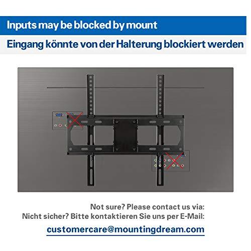 Mounting Dream TV Wandhalterung Schwenkbar Neigbar Ausziehbar, Fernseher Halterung für die meisten 66cm-140cm (26-55 Zoll) LED, LCD und OLED TVs bis zu VESA 400x400mm und 27kg, MD2432-03