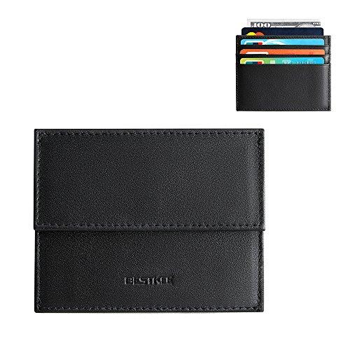 Porte Monnaie Homme Cuir, RFID Blocage Porte Carte de Crédit,Porte Feuille Noir Homme Pour Poches Pantalon ou Veste