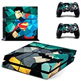 Hytech Plus Batman vs Superman Cartoon Edition Theme Skin Sticker Cover for PS4 Console and Controllers