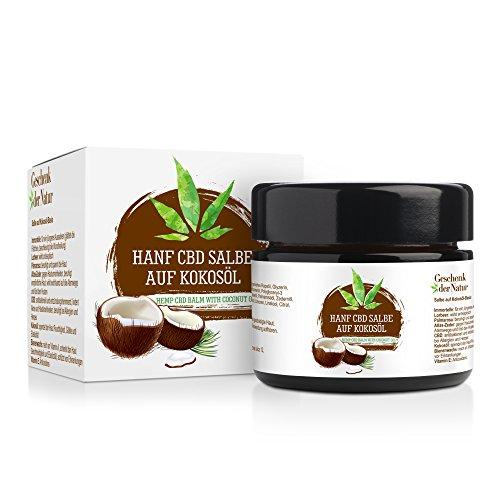 *Hanf Salbe mit Immortelle Extrakt Basiert Kokosöl, Ohne Zusatzstoffe für Haut Pflege und Körper*