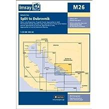 Imray Chart M26: Split to Dubrovnik (M Series)