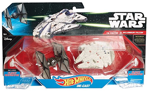 Hot Wheels Star Wars: The Force Awakens First Order TIE Fighter vs. Millennium Falcon 2-Pack Falcon-serie-handys