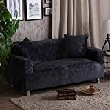 SSDLRSF Dickes Sofabezug Stretch-Sitzbezüge Couch-Bezug Loveseat Sofa Funiture Warp Slipcovers Abdeckung Handtuch alle Wickeln (90-300cm), Holzkohle, 4 Sitzer 230-300cm