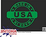 JINTORA Autocollant/Autocollant de Voiture - Fabriqué aux USA - 117x99 mm - JDM/Die Cut - Voiture/vitre/Ordinateur Portable/Fenêtre - Vert...