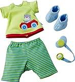 HABA 303728 - Kleiderset Sascha   Puppenzubehör für Babypuppe Sascha   Set aus T-Shirt, Hose,...