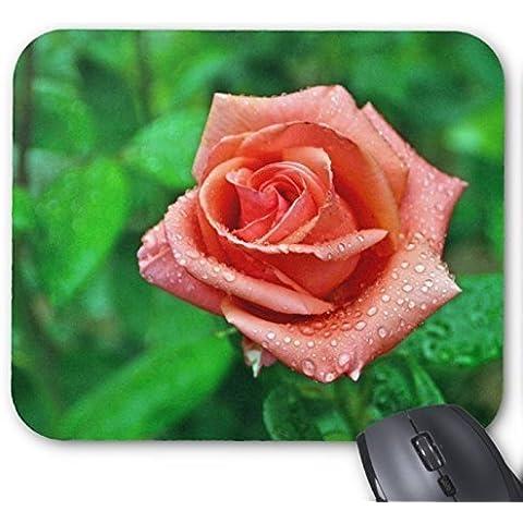 Champagne Rose e rugiada Mouse Pad design