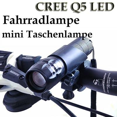 Cree Q5 LED 240Lm Fahrradlicht Fahrradlampe Taschenlampe von Qpstore auf Lampenhans.de