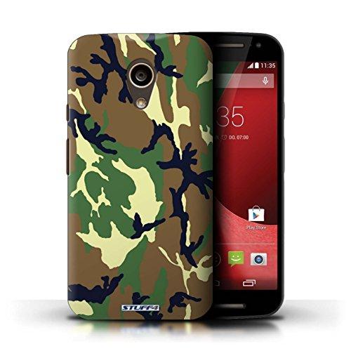 Kobalt® Imprimé Etui / Coque pour Motorola Moto G (2014) / Rose 3 conception / Série Armée/Camouflage Vert 4